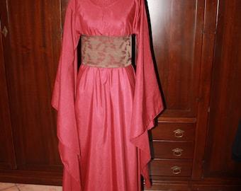 Fantasy red dress - Medieval/LARP/Elven