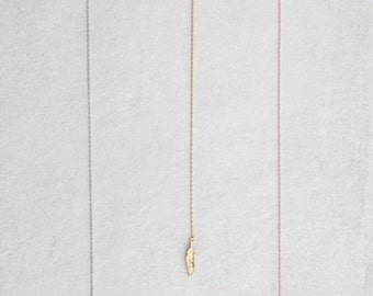 Long Feather Lariat Necklace - 020400024-020400026