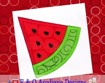 Watermelon Applique - Watermelon Digital Design - Summer Applique - 11 Sizes - Watermelon Embroidery Design