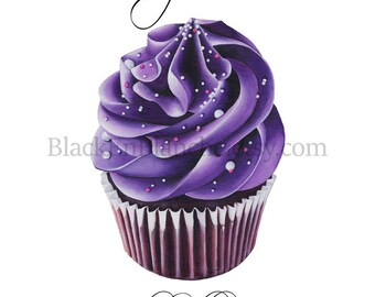 Cupcake Art Print / Chocolate Cupcake Art / Cupcakes Art / Be a Cupcake / Bakery Art / Food Art / Bakery Quote / Dessert Art / Baking Gift