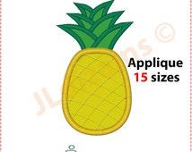 Pineapple applique design. Machine embroidery design - INSTANT DOWNLOAD - 15 sizes. Pineapple applique. Pineapple embroidery. Fruit applique