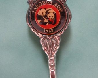 Vintage Souvenir Spoon - Taronga Zoo -Pandas- Sydney - 1988 - NSW - Australia