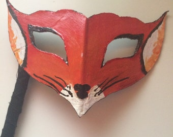 Custom hand painted card board masks