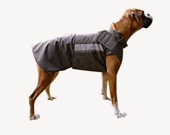 Boxer SoftShell Dog Coat - Custom Dog Winter Coat - SoftShell/ Fleece Dog Coat - Winter Dog Clothing - Custom made for your dog