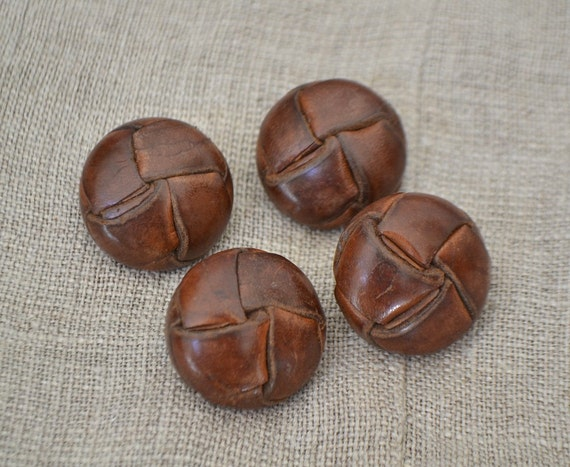 Vintage Leather Buttons 80
