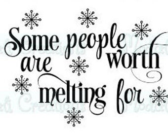 Some people are worth melting for SVG