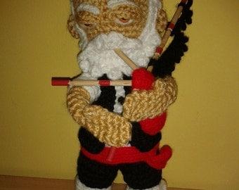 Traditional Galician bagpiper amigurumi 28 Cm hand made,