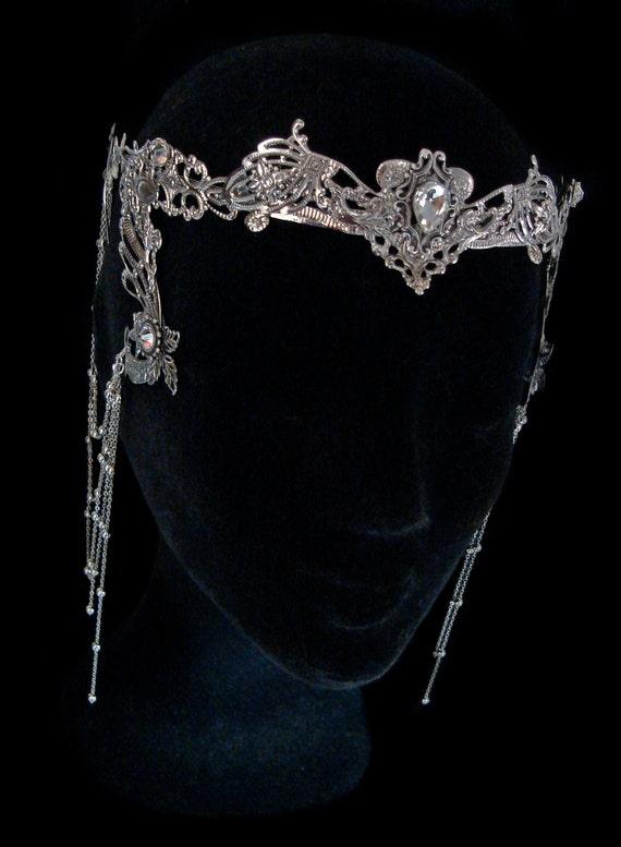 Elven Fairy Krone Haarreif Tiara Crystal Diadem