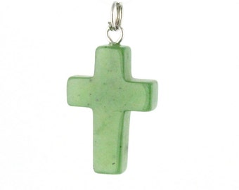 "Canadian Nephrite Jade Pendant, Cross 0960 - 10% off - Promo Code ""SUMMER17"""
