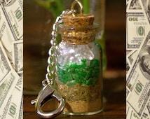 Mini Spell Bottle Keychain Key Chain Prosperity Money Magick