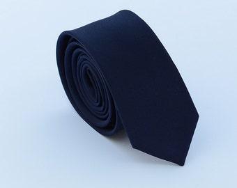 Navy Silk Ties. Navy Skinny Ties.Navy Wedding Ties. Groomsmen Ties.Matching Set. Gifts