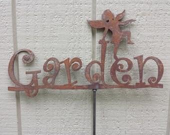 Garden Sign with Fairy