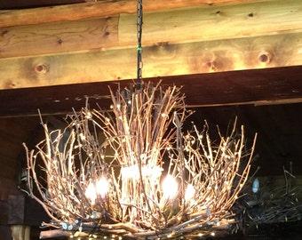 The Kenosha - Rustic Outdoor Chandelier - 5 Candle Chandelier - Rustic Chandelier - Cabin Lighting - Rustic Outdoor Light Fixture 30X24