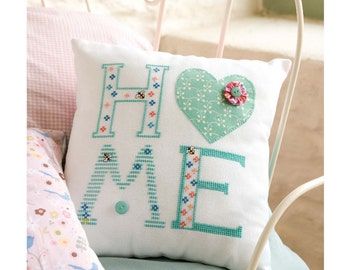 Square Home Cushion Cross Stitch Chart Download