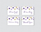 Purple Baby Shower Mini C...