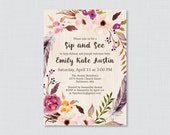 Boho Sip And See Invitati...