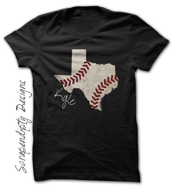 Texas baseball tee kids baseball shirt state of texas for Texas baseball t shirt