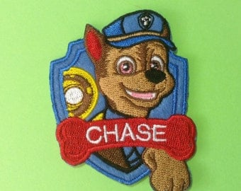 Iron on Sew on Patches:   Chase patch