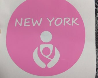 New York Babywearing decal (2.75 inch all around) great for the tula, beco, ergo, mei tai, ring sling, wrap, wrap conversion lovers