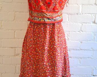 Vintage 70's Floral Dress