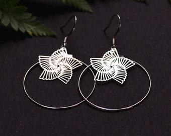Hoops Star Silver earrings