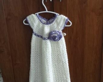 Plum & Ivory Baby Dress, Size 6-12 month baby dress