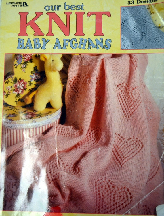 Leisure Arts Knitting Pattern Books : Baby Afghan Knitting Patterns Book Leisure Arts 33 Designs