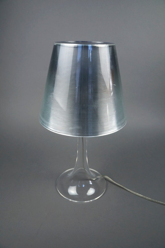 Miss k table lamp clear silver by philippe starck flos for Miss k table lamp replica