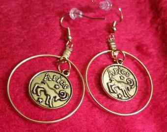 Zodiac Hoop Earrings