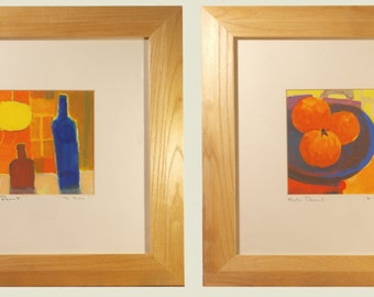Martin Decent, pair of acrylics on paper, signed and titled.