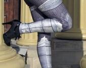NEW! TAFI Steel Armor Leggings - 2016 Plate Chain Mail CosPlay Armour 3D Printed Design Black Milk Galaxy Dance Costume Yoga Pants