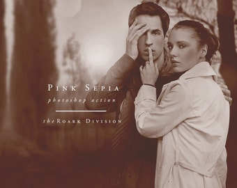 Pink Sepia Photoshop Action Instant Download Photographer's Action Photoshop Tools for Photographers
