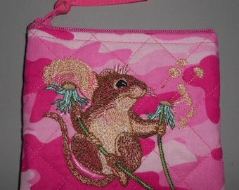 Embroidered Mouse – Coin Purse – CP174