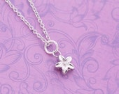 Tiny Stainless Steel Flower Urn Charm - For Ashes - Cremation Jewelry - Engraved Urn - Engraved Jewelry - Star Urn - Tiny Urn Necklace
