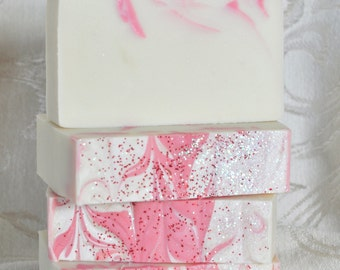 Handcrafted SOAP, PEPPERMINT CANDY, Handmade Soap, Peppermint Soap, Cold Process, Artisan Soap, Christmas Soap, Holiday Soap, Vegan, PEP216