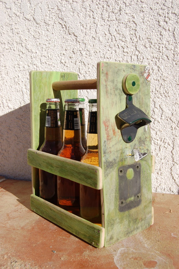 items similar to beer or soda bottle six pack holder with bottle opener made from a girl. Black Bedroom Furniture Sets. Home Design Ideas