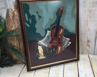 Violin Cross Stitch, Music Art, Vintage Cross Stitch, Violin Art, Everything Cross Stitch, Violin Gifts, Violin Pictures, Music Cross Stitch