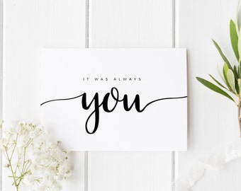 It Was Always You Card, See You At The Altar Card, Groom Wedding Day Card, Bride Wedding Day Card, Card For Groom, Card For Bride