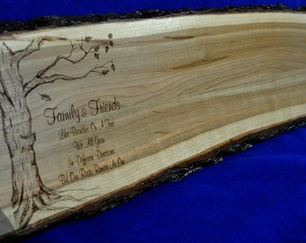 Wedding Guest Book ~ Wedding Sign ~ Wood Slab Guest Book ~ Tree Slice ~ Wood Guest Book ~ Wood Signing Board ~ Live Edge Sign ~ Wedding ~