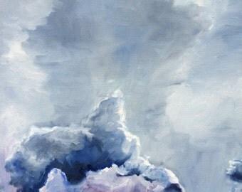 "Storm Clouds, Original Oil Painting, 16""x20"""