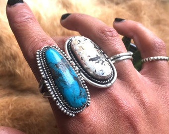 Sterling Mornenci turquoise ring DISCOUNTED size 8