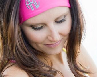 Monogrammed Headband, Activewear Headband, Sweatband, Monogrammed Sweat Band, Personalized Head Band, Athletic Apparel, Athletic Gifts