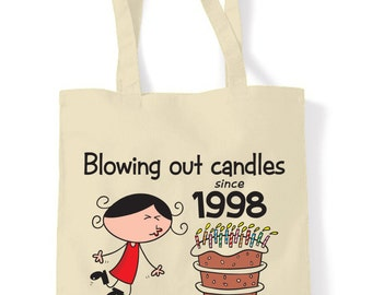 Blowing Out Candles Since 1998 18th Tote Shopping Bag