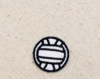 Volleyball - Sports - Balls - Black/White - Embroidered Patch - Iron on Applique - 695152-A
