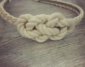 Nautical Rope Knot Headband