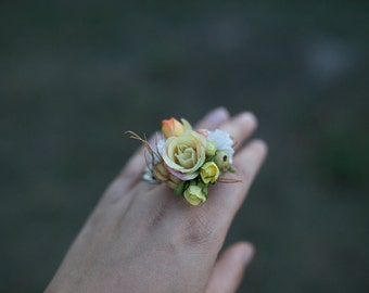 Flower ring Autumn ring Adjustable size ring  Ring for bride Ring for everyday use Without nickel
