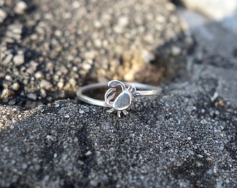 Pincers Crab Ring Unique  Handmade Sea Life Inspired Jewellery - Ocean Jewellery by SophieJadeJewellery