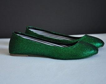 Wedding shoes green wedding shoes dark gree shoes green flats green flat shoes bridal shoes forest green shoes high heels low heels