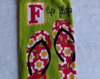 Flip Flop Hanging Kitchen Towel