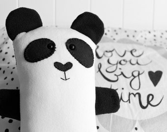 Panda Bear, Handmade Sleep Time  Cuddle Buddy